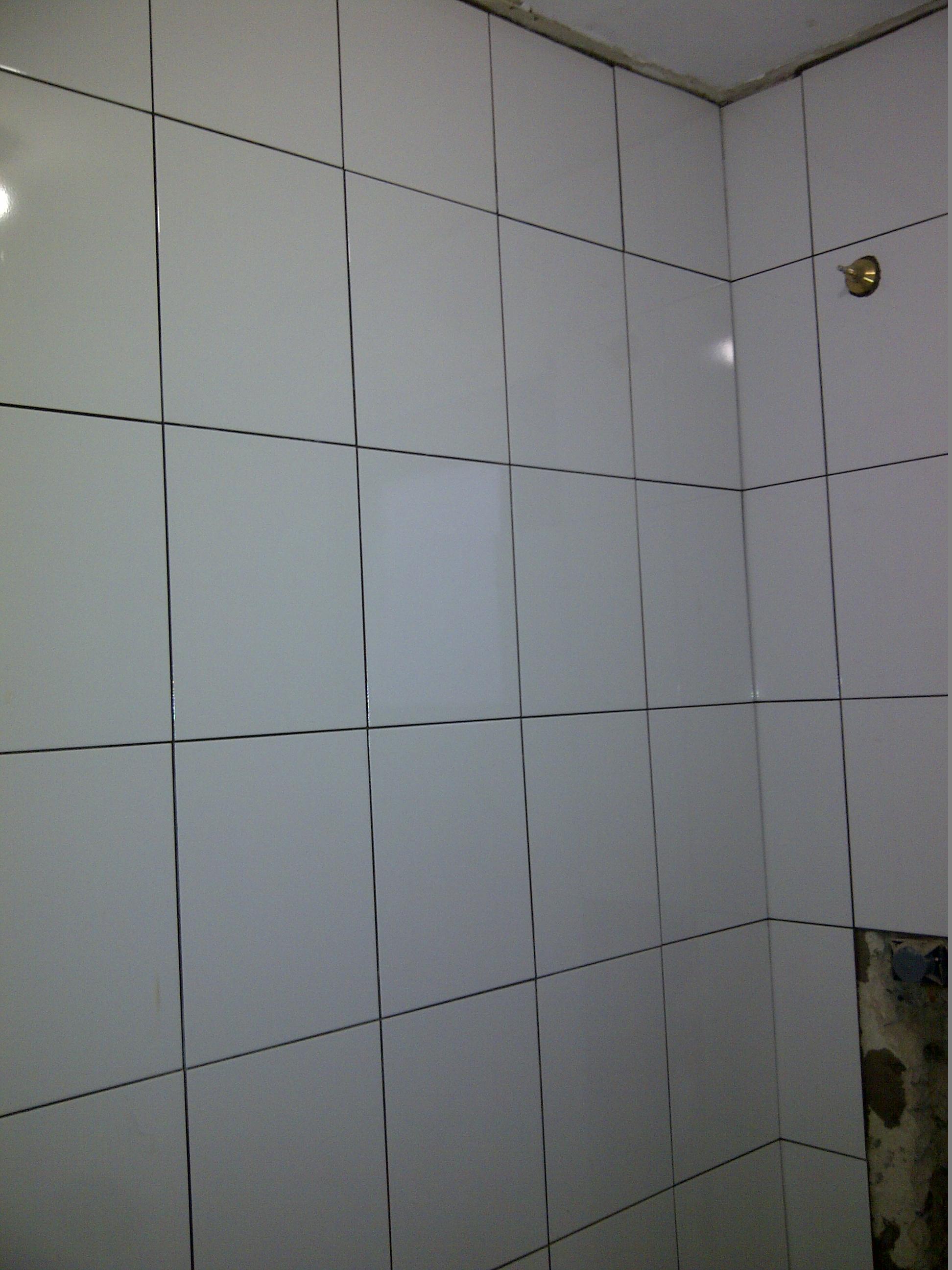 Depois] Banheiro – encanamento piso e revestimento vitro e  #6C6E5D 1944 2592